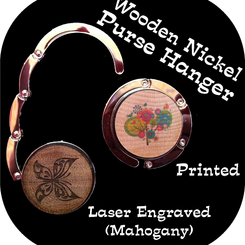 Wooden Nickel Purse Hanger