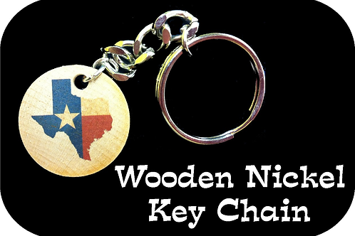 Wooden Nickel Key Chain