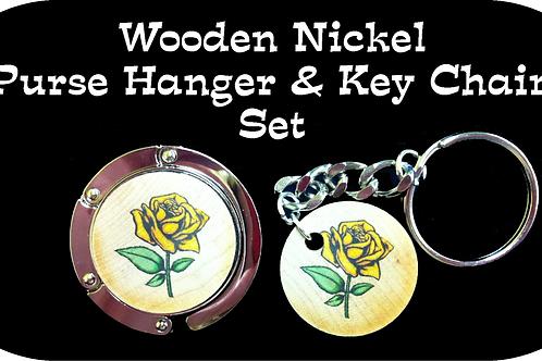 Purse Hanger & Key Chain Set