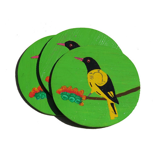 Black-hooded Oriole Coaster
