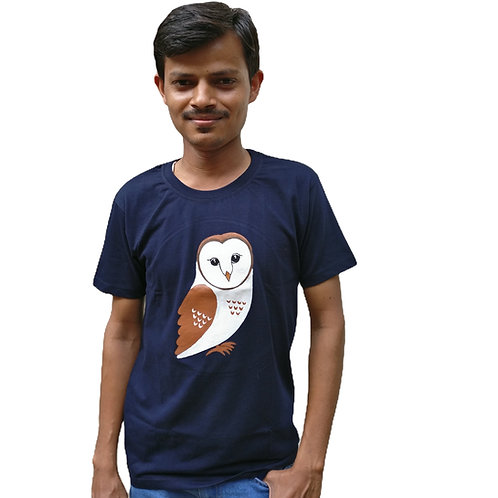 Owl Painted T-Shirt