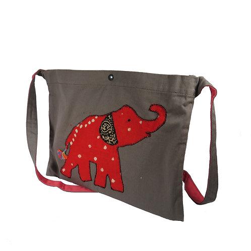 Elephant Applique Office Bag