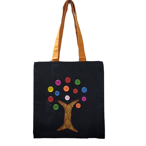 Button Tree Tote Bag