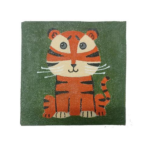 Tiger Coaster Magnet