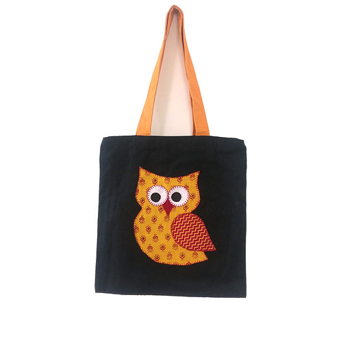 Owl Applique Tote Bag