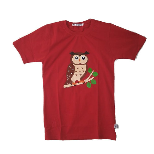 Cute Owl Painted T-Shirt for Kids