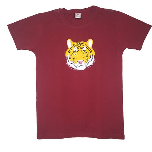 Tiger Face Painted T-Shirt