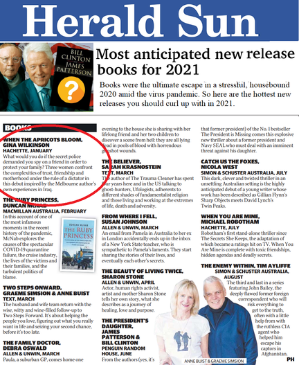 Apricots Featured in Herald Sun's Most Anticipated Books of 2021