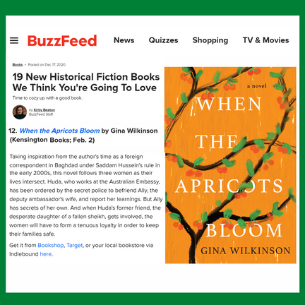 Buzzfeed: When the Apricots  Bloom a Top Historical Fiction Novel for 2021