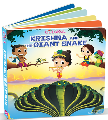 Krishna and The Giant Snake board book