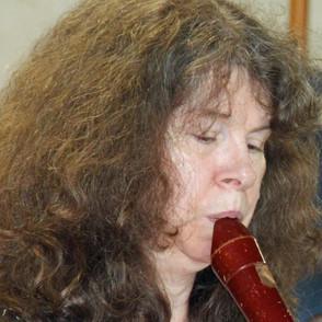 Maggie on tenor recorder at Callington OCS