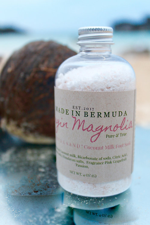 """Bermuda Sand"" Coconut Milk Foot Soak & Milk Bath"