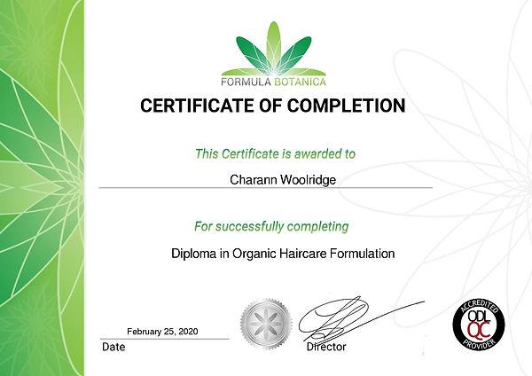 DOHF_Diploma in Organic Haircare Formula