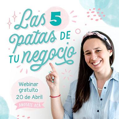 """""""Las 5 patas de tu negocio"""" Webinar gratuito"""