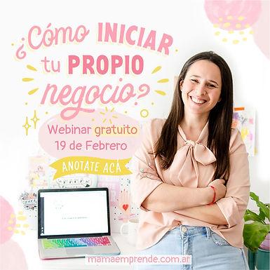 """""""Cómo iniciar tu propio negocio"""" Webinar gratuito"""