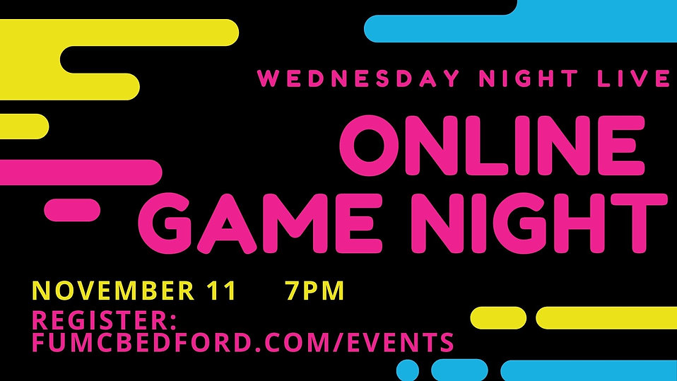 11.11.20 Online Game Night with link Ann
