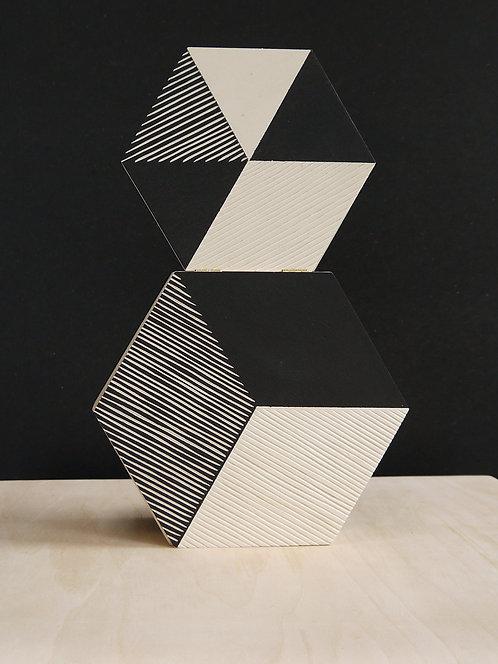 ikken déco - 2 boites Hexagone