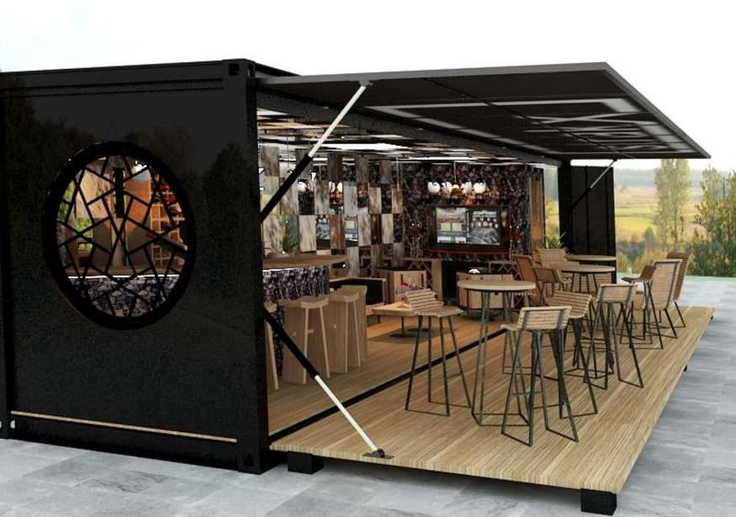 Container pop up bar