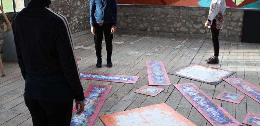 Alice Anderson, Atelier Calder, photo Guillaume Blanc