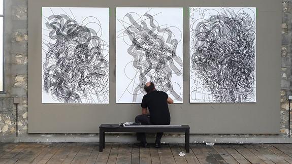 Carlos Amorales, Atelier Calder, photo Guillaume Blanc
