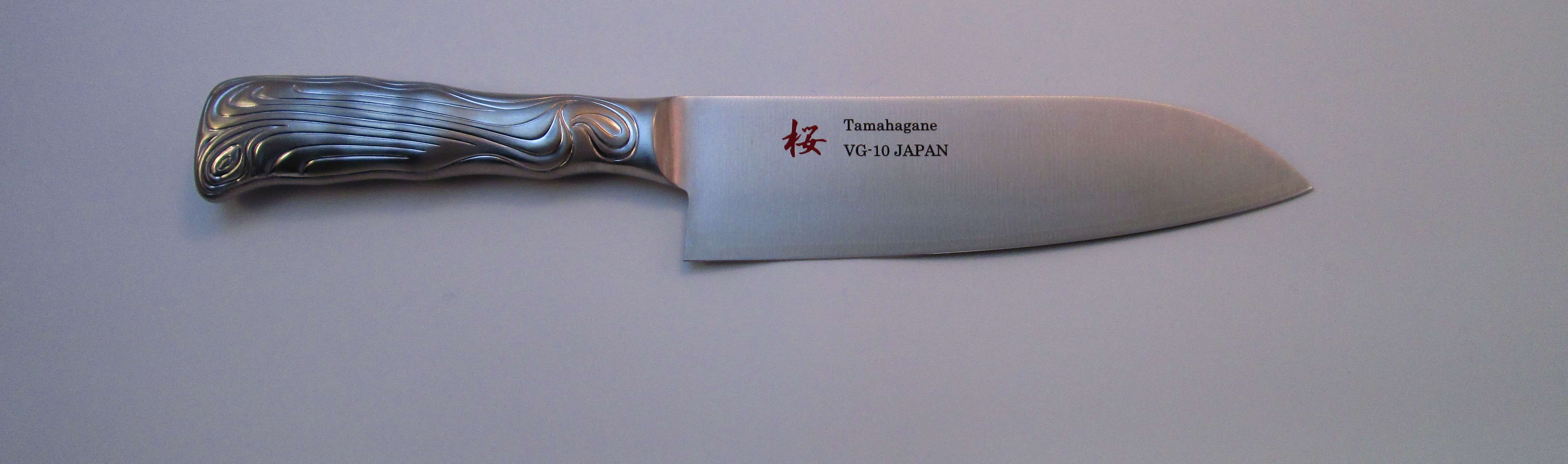 SAKURA VG-10 3ply SShandle Santoku170mm.