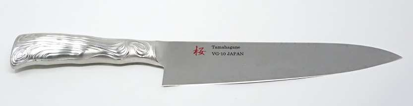 SAKURA VG-10 3plt SS handle Chef210mm