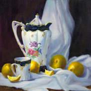 Chocolate Pot and Lemons 12x12.jpg