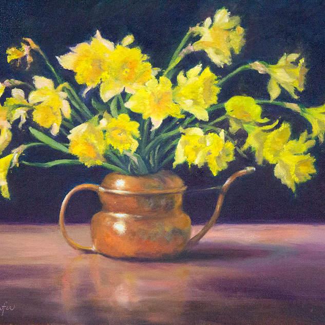Daffodils and Copper 14x18.jpg