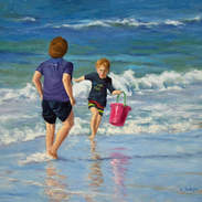 Playing in the Surf 16x20.jpg