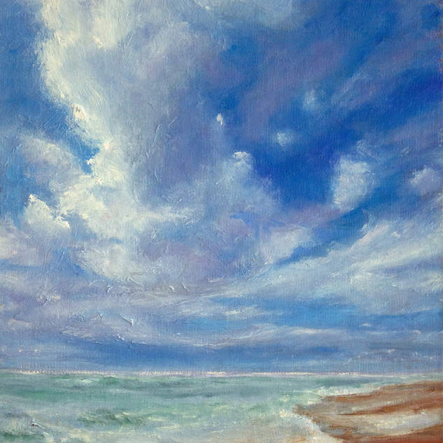 Outer Banks Clouds & Surf 12x9.jpg