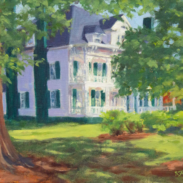 Summer at Hall House 9x12.jpg