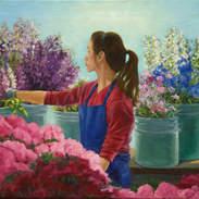 Flower Market Girl 18x24.jpg