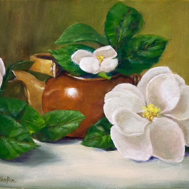 Copper Teapot and Magnolias 8x10.jpg
