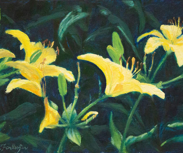 Yellow Daylily Dance 6x12.jpg