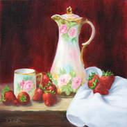 Chocolate Pot and Strawberries 12x12.jpg