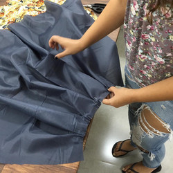 חצאית קפלים קורס תדמיתנות ותפירה