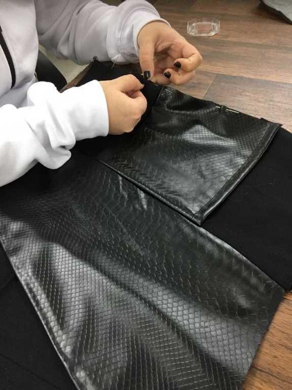 תפירת חצאית א-סימטרית