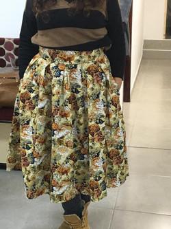 חצאית מקורס תדמיתנות ותפירה