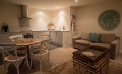 Balcony lounge dining kitchen