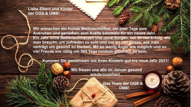 Weihnachtsgrüße der OGS