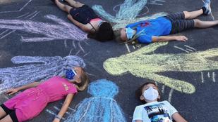 Street-Art-Kunst der 4B