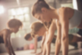 girls doing push ups