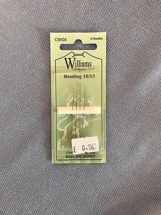 Beading Sewing Needles 10/13: Williams