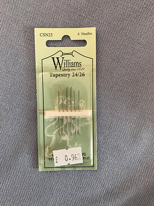 Williams Sewing Needles Tapestry 24/26