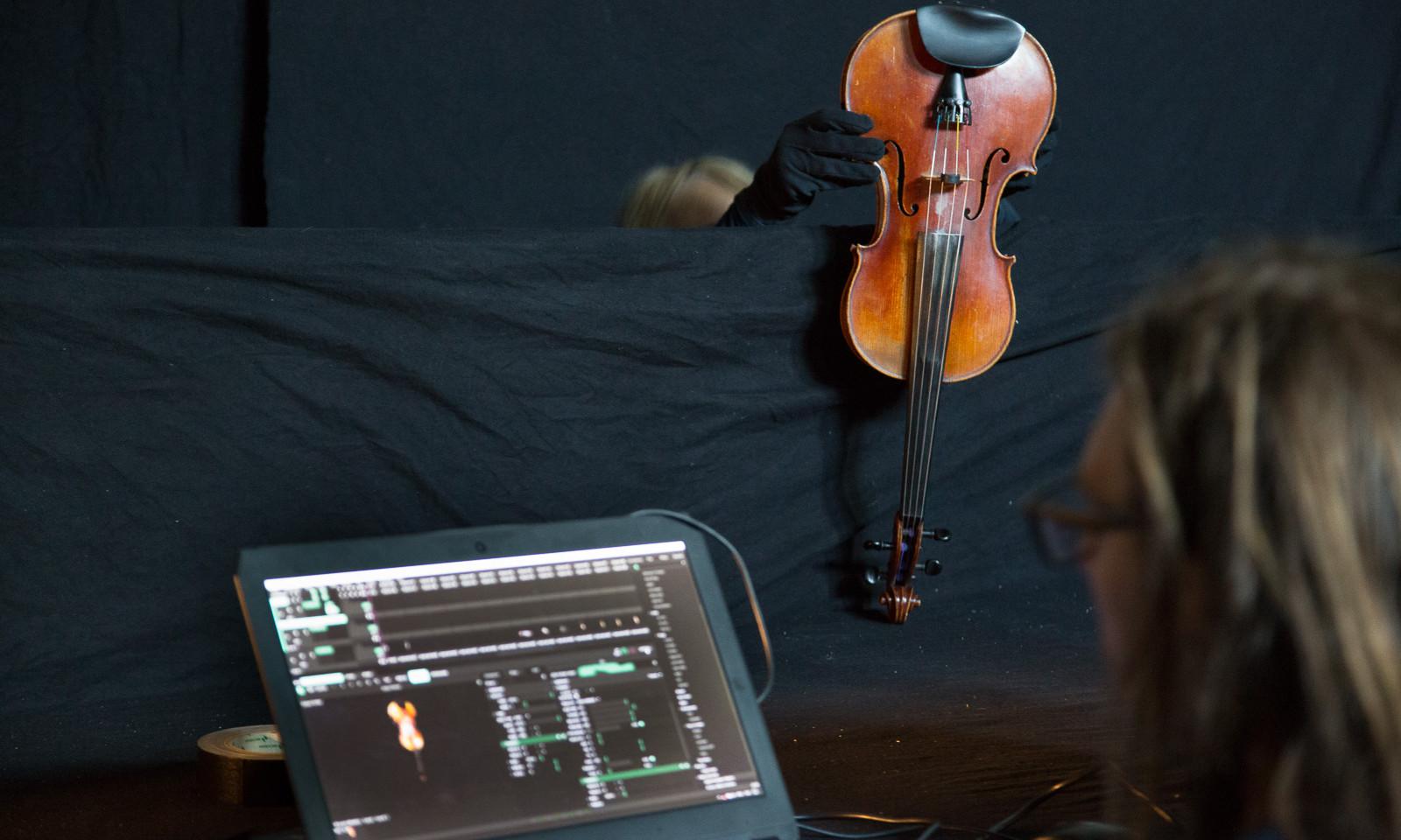 Pop Up inscannen viool