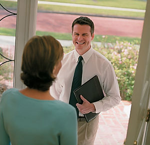 Field Call Interview at front door