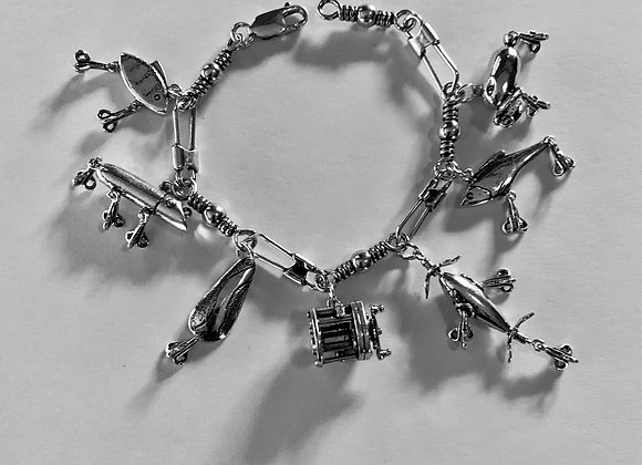 Swivel and Snap Hook Charm Bracelet