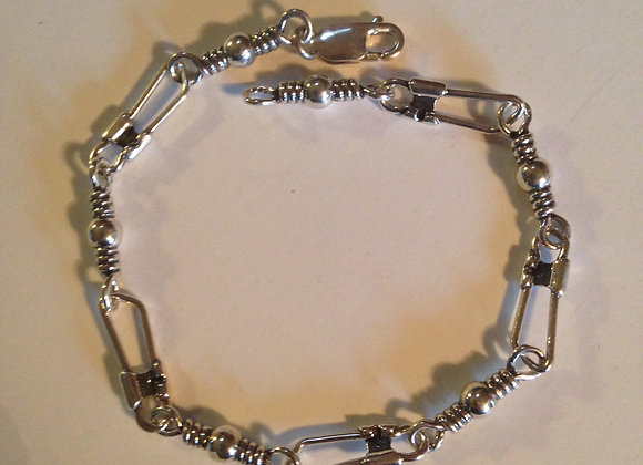 "8 1/2"" Swivel and Snap Hook Bracelet"