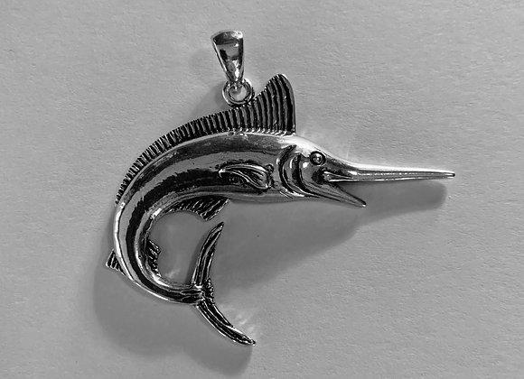 Large White Marlin Pendant