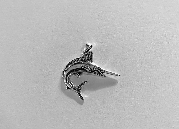 Small White Marlin Pendant